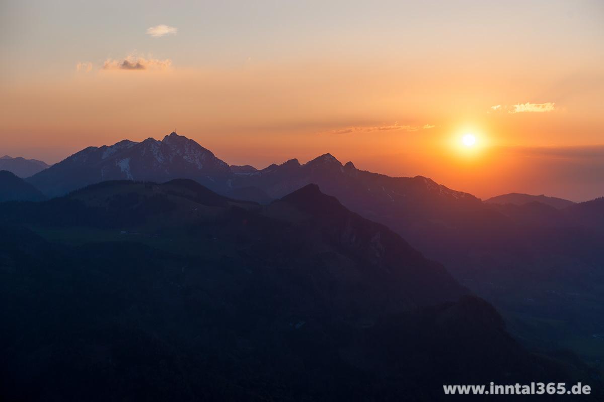 15.06.2015 - Sonnenuntergang mit Wendelstein
