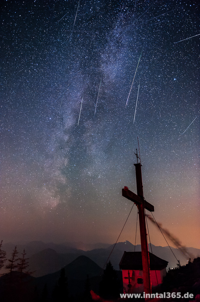 12.08.2015 - Meteor Shower 2015 over the Alps