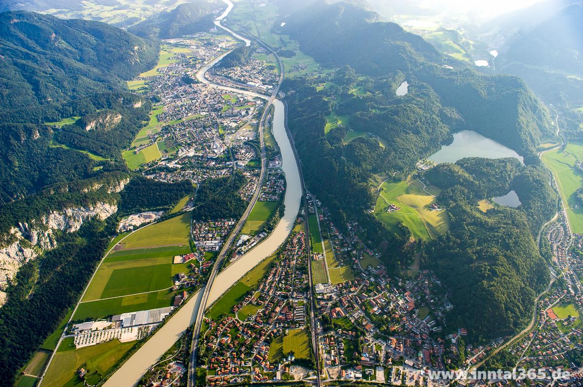 22.08.2015 - Luftbild von Kiefersfelden und Kufstein