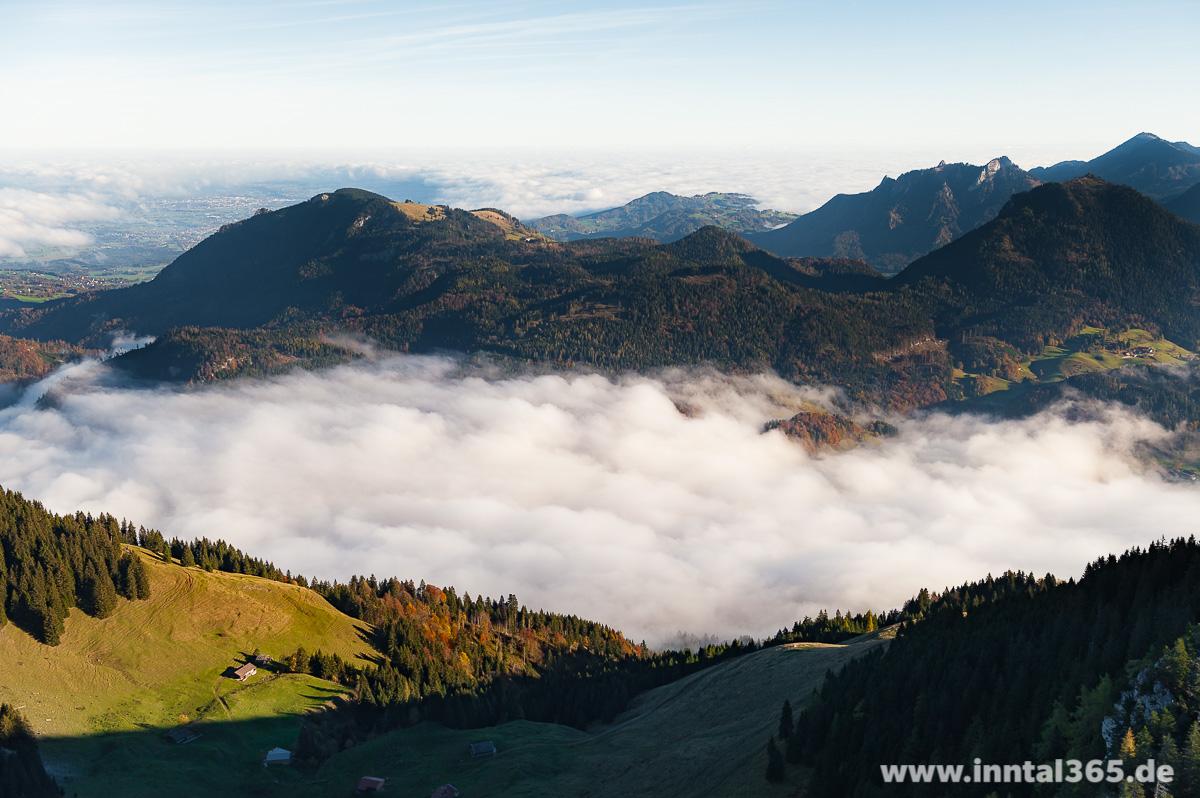 03.11.2016 - Blick nach Norden oberhalb des Brünnsteins